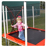 8x8 ft Square Trampoline with Enclosure