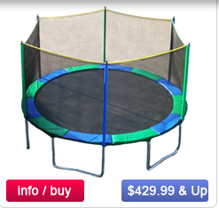 Black Friday/Cyber Monday Deals on Trampoline With Optional Enclosure