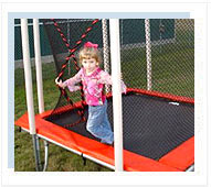 Square Trampoline with Enclosure